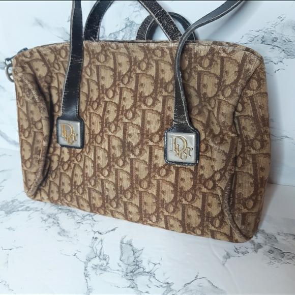 Dior vintage monogram handbag  100% Authentic